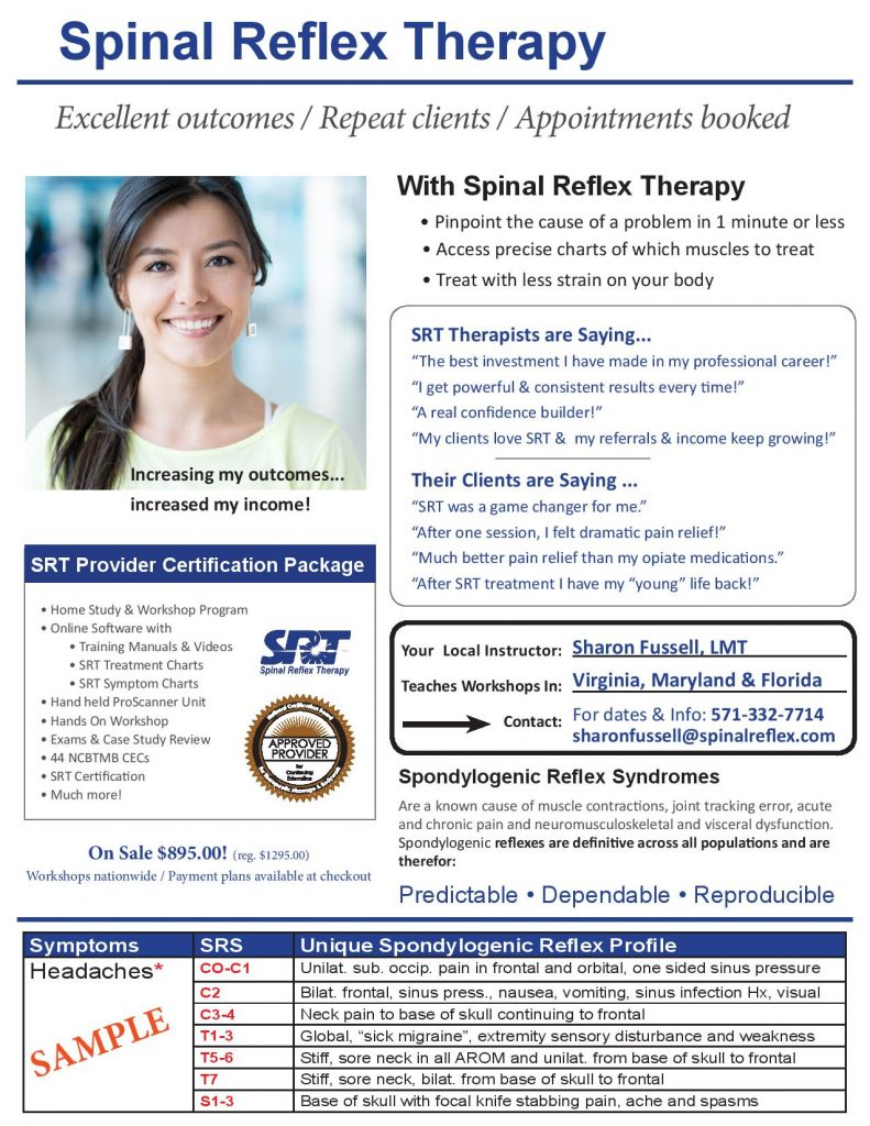 Spinal Reflex Therapy, SRT, Jennifer Sovine
